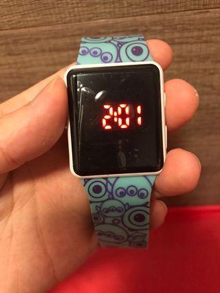 迪士尼LED 手錶,大眼仔,三眼仔