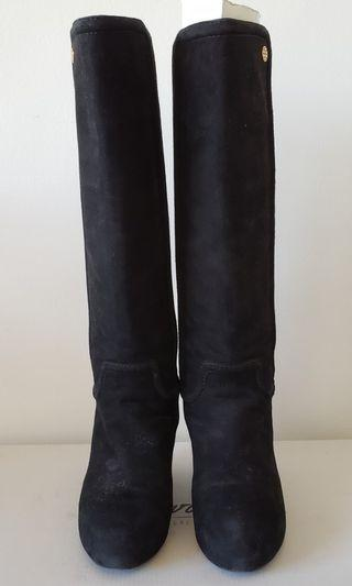 Tory Burch Black Suede Boots (Size 37)