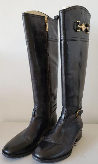 Tory Burch Black Leather Boots (Size 7)