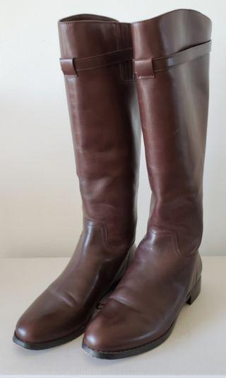 L'INTERVALLE brown leather boots (Size 7)