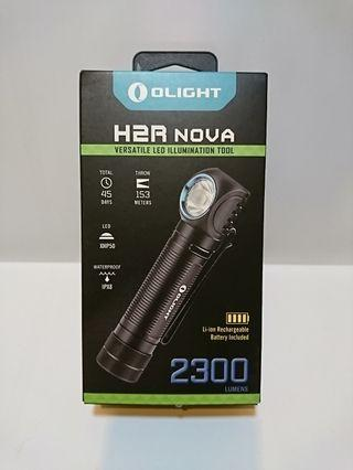 OLIGHT H2R NOVA 超強光 LED 電筒 2300 LUMENS (18650 Li-ion 3000mAH) NW NEUTRAL WHITE