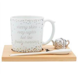 BNIB Indigo tea set