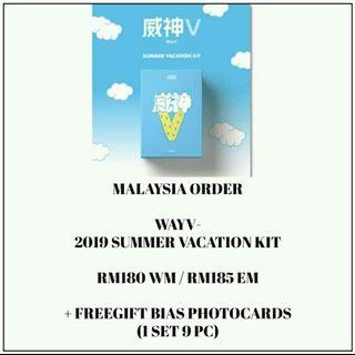 WAYV - 2019 SUMMER VACATION KIT - PREORDER/NORMAL ORDER/GROUP ORDER/GO + FREE GIFT BIAS PHOTOCARDS (1 ALBUM GET 1 SET PC, 1 SET HAS 9 PC)