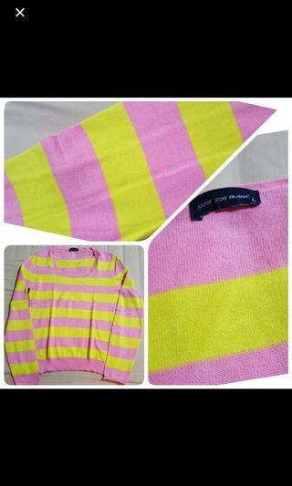 Noir Sur Blanc Knitwear blouse panjang tangan