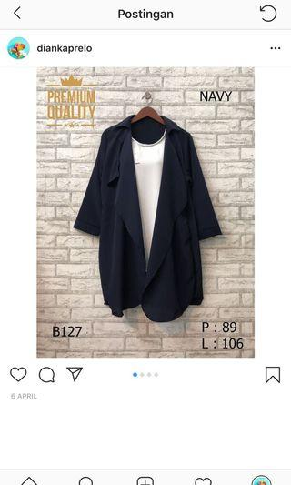 Navy Outer / cardigan/batwing/outwear