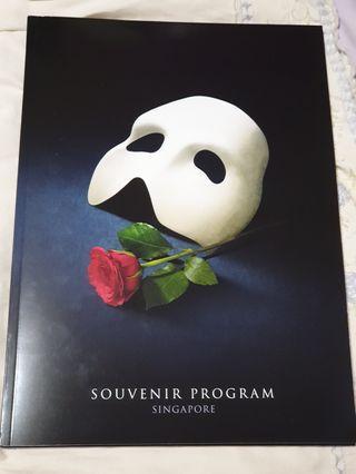Phantom of the Opera Souvenir Program
