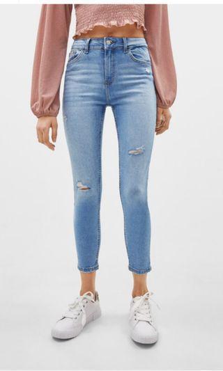 Bershka Crop ripped jeans