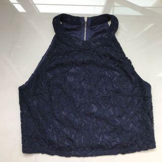 BN Cheris Crochet Floral Halter Top