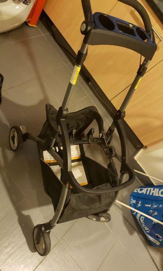 Graco SnugRide Click Connect Stroller - Black cart, No Car seat