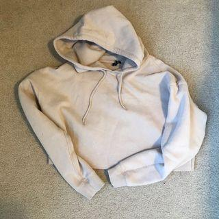UO Beige Cropped Hoodie (L)