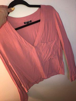 Top Shop - Pink flows shirt, M