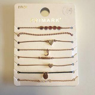 🚚 Rose Gold Dainty Bracelet 8-Pack