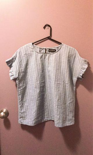 Striped denim top Sz 8-10