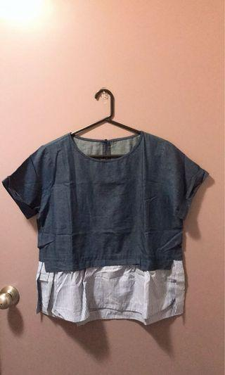 Denim top Sz 8-10