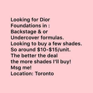 Iso: Dior foundations.