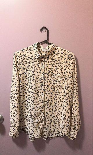 Bird print top Sz 10