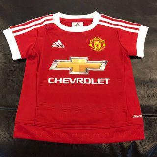 Kids Manchester United Home Adidas Jersey