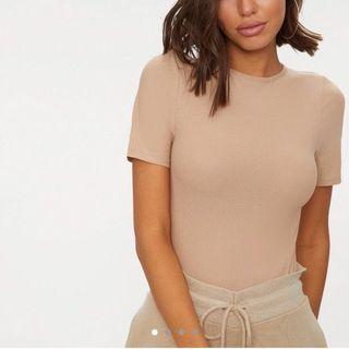 BRAND NEW Nude Short Sleeve Bodysuit/Leotard