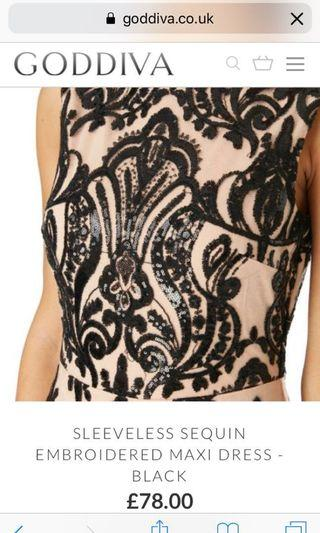 Goddiva Sleeveless Sequin Dress