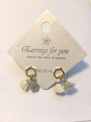 韓國 流蘇 耳環 earrings 全新