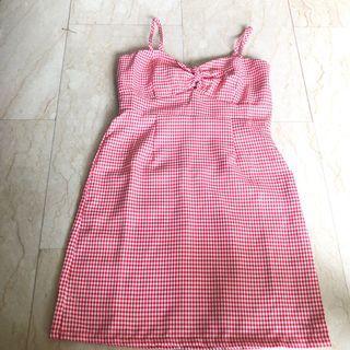 BN Red/White Checkered Dress