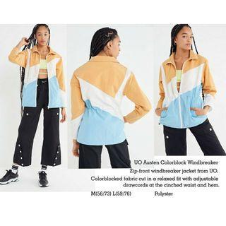 URBAN OUTFITTER UO Austen Colorblock Windbreaker Jacket