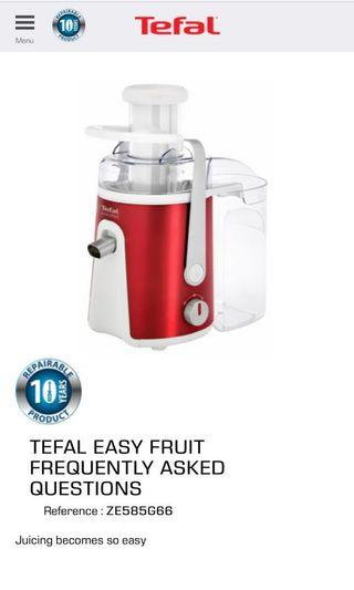 Juicer Tefal Easy Fruit BARU - Brand New in Box