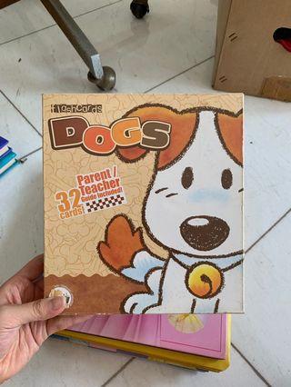 Flashcards Dogs - Buku belajar kata anak