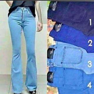 jeans bootcut bergetah