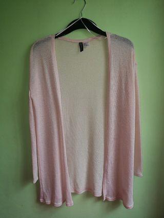 H&M Pink Mesh Sweater
