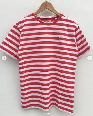 Hush Pappies Striped tee - Red
