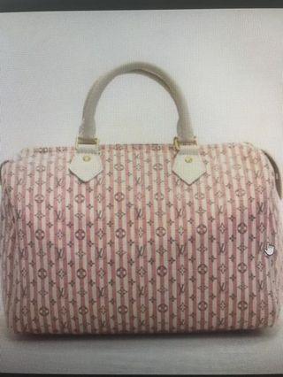 bc742ed7b9ed LV pink monogram mini Lin speedy 30
