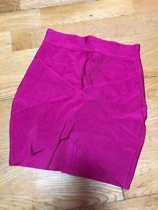 🚚 歐美繃帶裙 粉紅色 XS