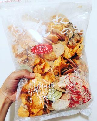 日本名古屋必買名產雜錦蝦片