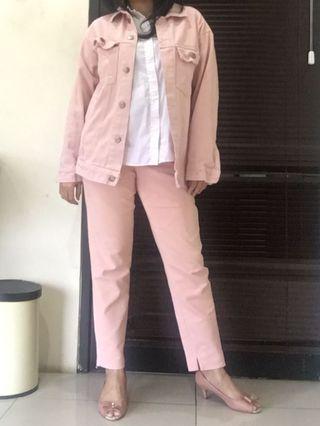 Jaket Jeans Milea Pink