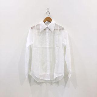 🚚 設計感百搭打底透視襯衫
