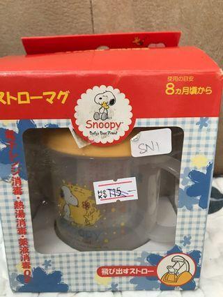 日本制snoopy 雙耳杯(盒有小小舊)清貨價$50