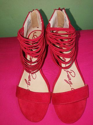 AMERICAN RAG SHOES Red Suede Sandals