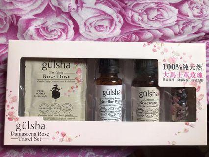 Gulsha damascena rose travel set