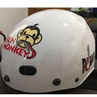🚚 猴子造型半罩安全帽