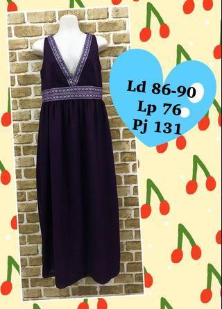 Long dress ungu #DISKON20%