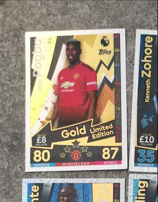 Match attax - Paul Pogba gold limited