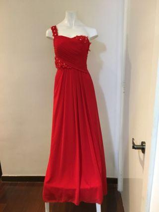 Red Dinner Long Gown