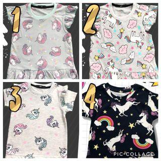 New Unicorn Girls Tshirt