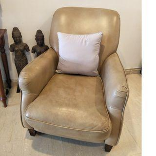 Full Leather Arm Chair
