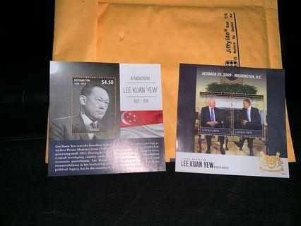 Lee Kuan Yew stamp set of 4.