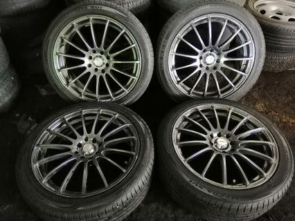 """Used 17""""inch sport rims with tyres 4x100 and 4x114.3"""