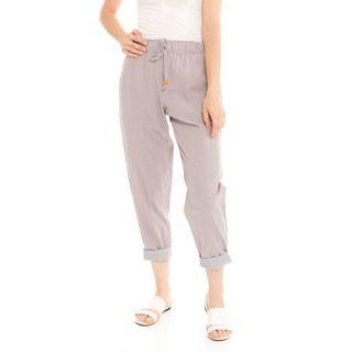 Beatrice Clothing Pencil Basic Pants Lightgrey
