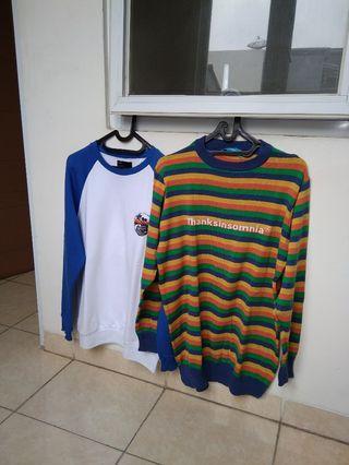 Borongan 2pcs Sweater Bershka & Thanksinsomnia