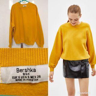 Sweater / Sweatshirt Bershka Yellow Mustard